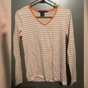 Orange & White Ralph Polo Shirt